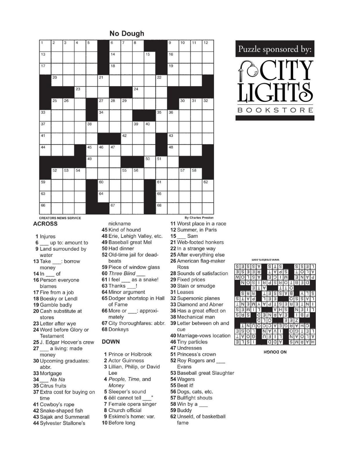 Crossword - Feb. 11, 2016