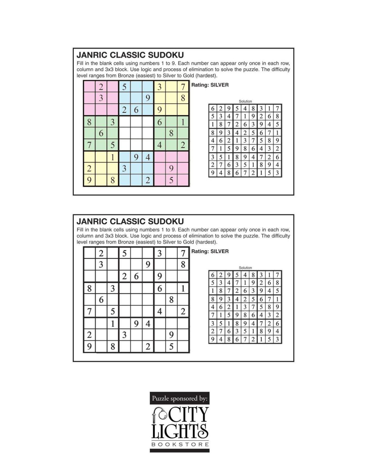 Sudoku - May 12, 2016