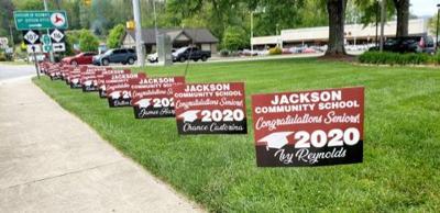 jackson community school signs