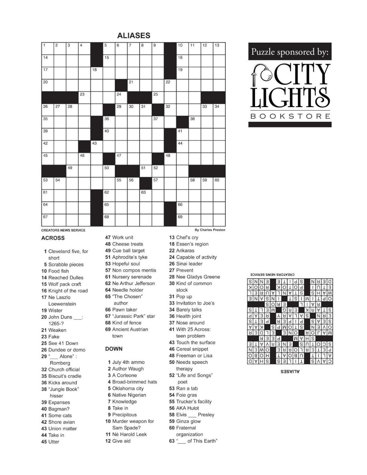 Crossword- June 30, 2016