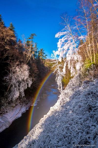 Sylva photo club polar vortex rainbow