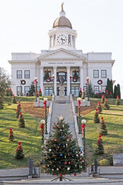 Jackson County Library decorations