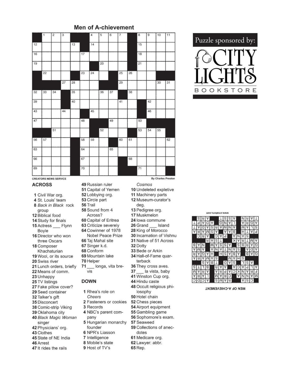 Crossword - Dec. 31, 2015