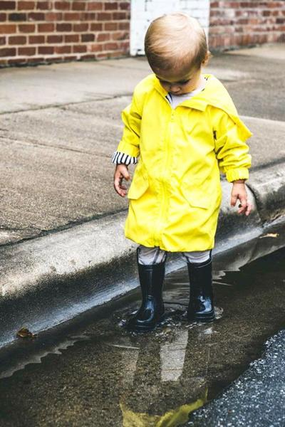Puddles are irresistable to kids around the world