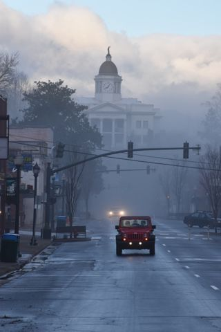 courthouse fog