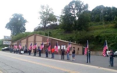 sept. 11 event flag line
