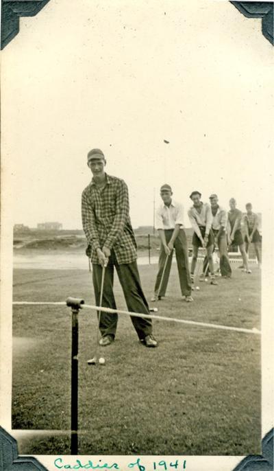 Caddies in action at the Sankaty Head Golf Club