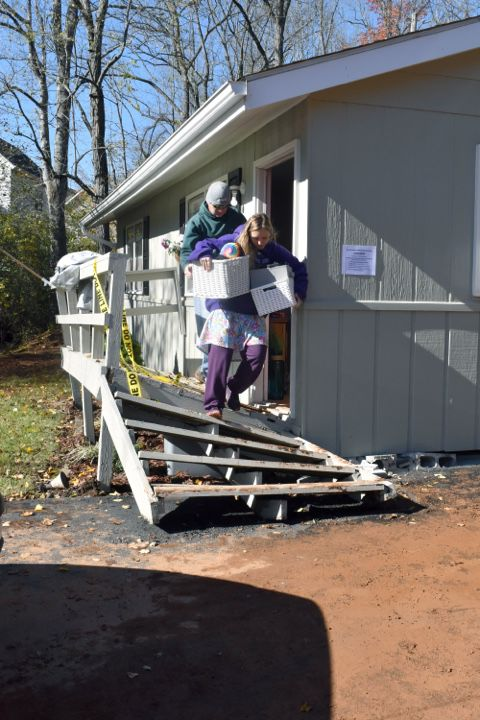 House knocked off foundation