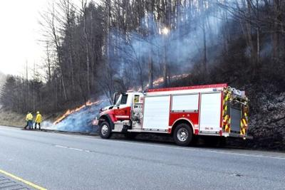 Balsam fire 23/74 three fires in one day