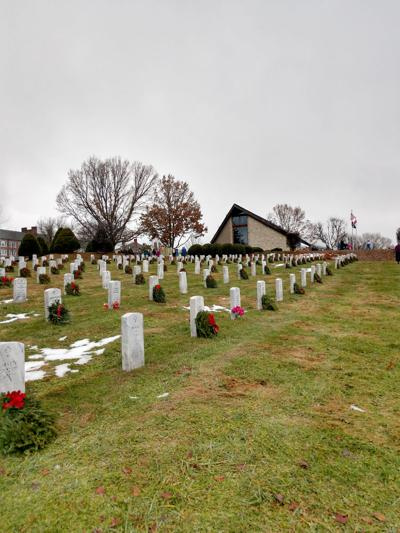 Donated wreaths for the State Veterans Cemetery