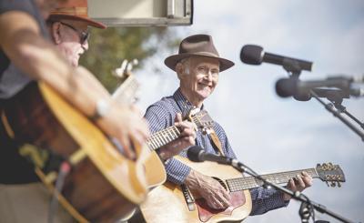 Joe Deitz performs at Mountain Heritage Day