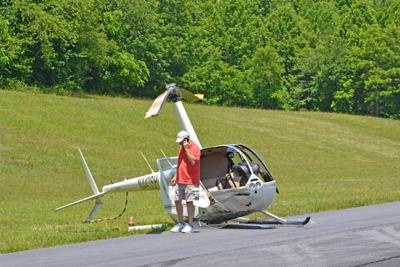 helicopter crash airport