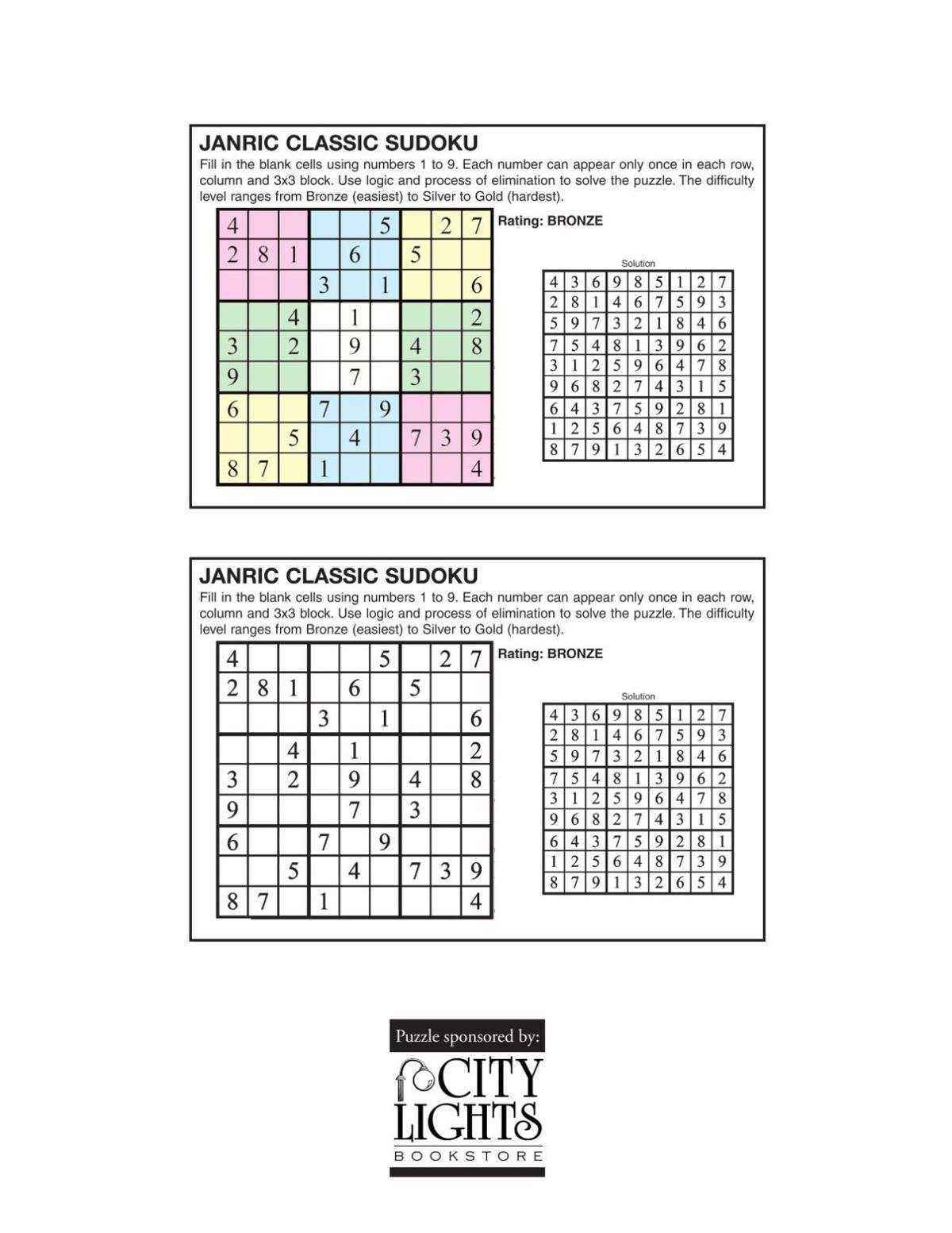 Sudoku- June 16, 2016