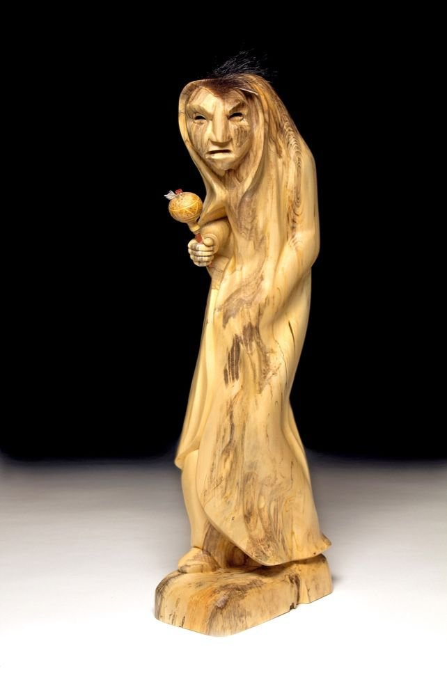 """Booger of Rebellion,"" wood sculpture by Joshua Adams"