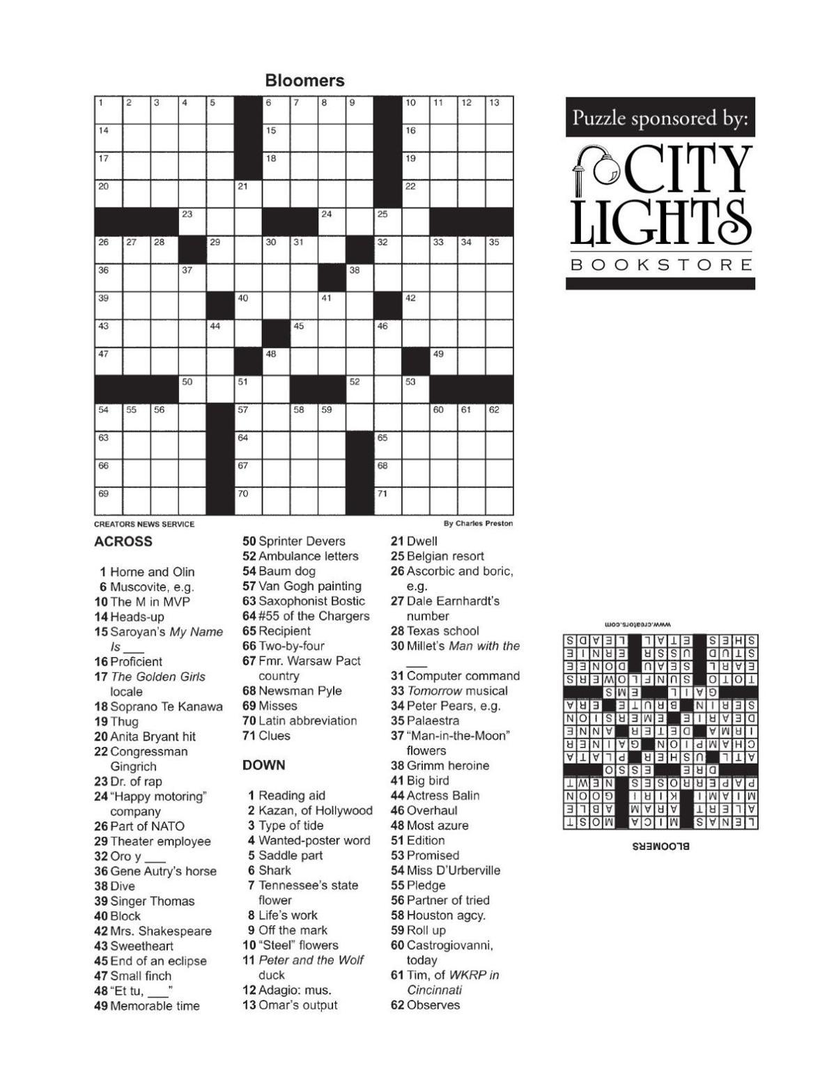 Crossword - Nov. 24, 2015