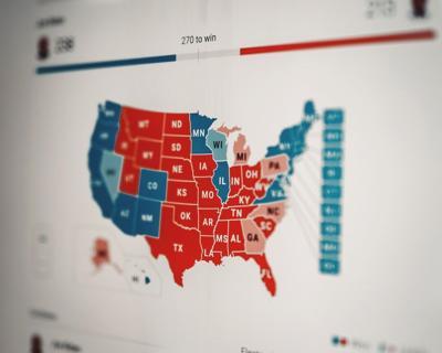Red v Blue map