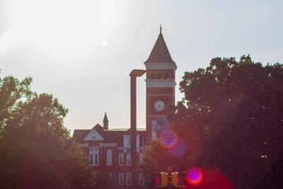 Old Main with lens flare