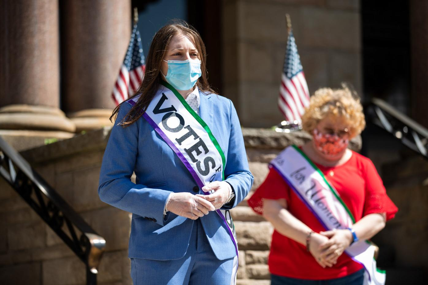 Road rally in Lackawanna County celebrates 100th anniversary of women's right to vote