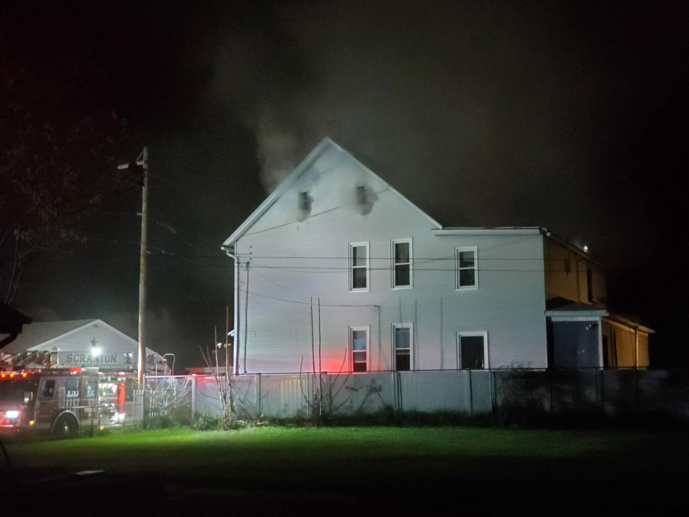 Firefighters were called to this home on Harrington Avenue Friday night after flames broke out just before 8 p.m.