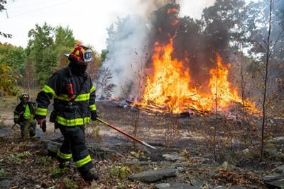Cause of railroad tie fire undetermined