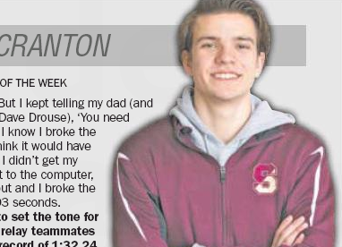 ATHLETE OF THE WEEK: Aidan Drouse, Scranton swimming