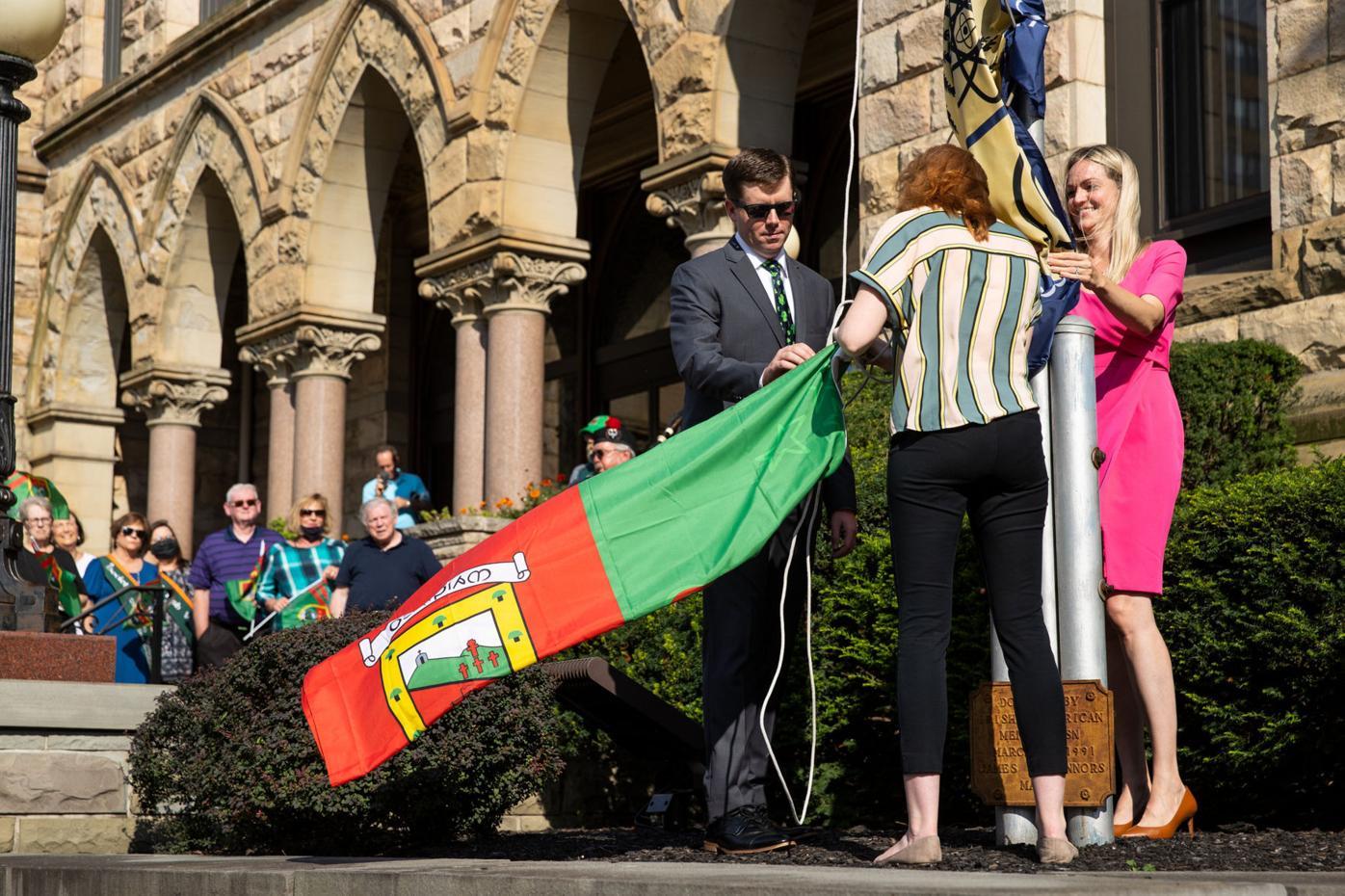 County Mayo Flag Raising at Scranton City Hall