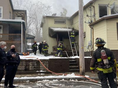 Firefighters were called to Pleasant Avenue for a fire Monday.