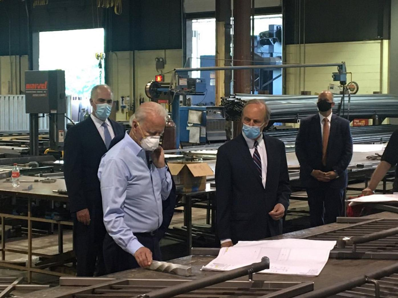 Biden pitches economic plan at Dunmore facility