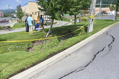 Drainage pipe breach believed to blame for Dickson City subsidences