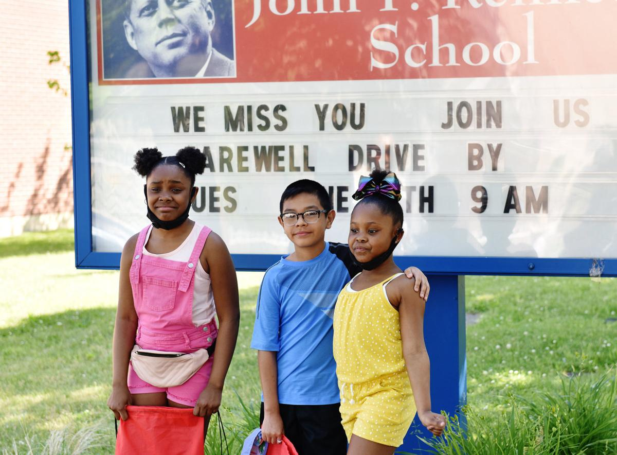 Out&About at a farewell parade at John F. Kennedy Elementary School
