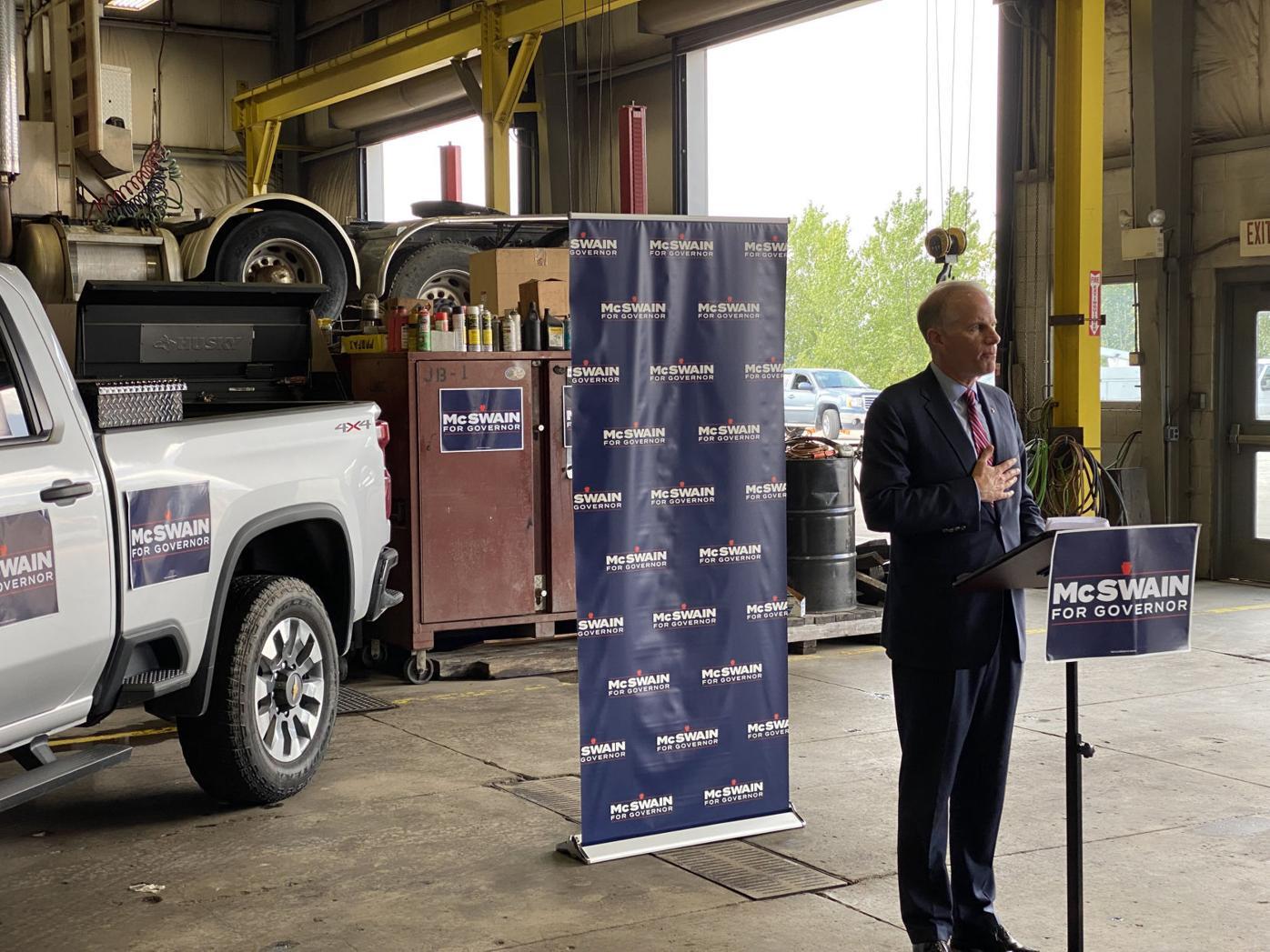 McSwain visits NEPA as bid for governor begins