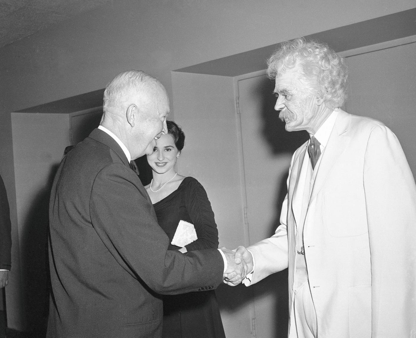 Hal Holbrook and Dwight Eisenhower