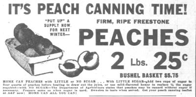 A&P Store advertisement