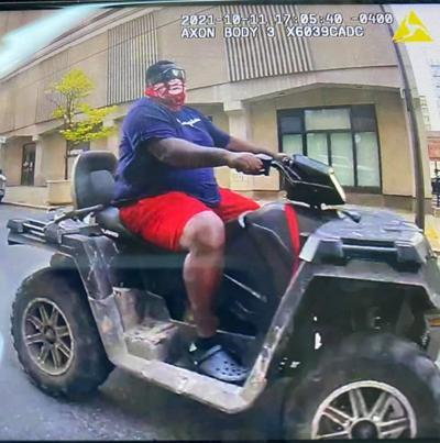 Police seek downtown ATV rider