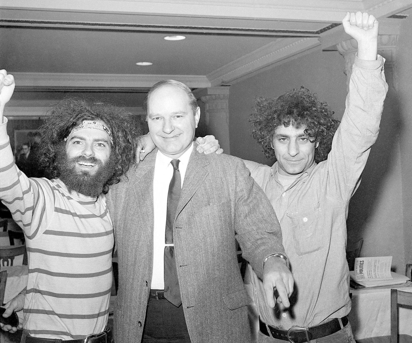 Jerry Rubin, David T. Dellinger and Abby Hoffman