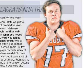 ATHLETE OF WEEK: Mark Dunckle, Lackawanna Trail football