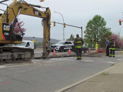 Gas line struck by contractor in Scranton