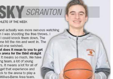 ATHLETE OF THE WEEK: Kevin Lazdowsky, Scranton basketball