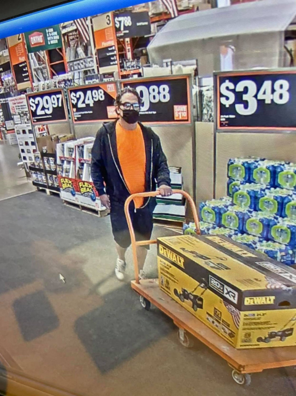 Man drew gun on loss prevention officer to steal lawnmower at Home Depot