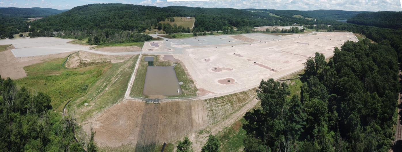 An aerial photo of the site preparation work for the New Fortress Energy liquefied natural gas plant in Wyoming Twp. Courtesy of FracTracker Alliance/Ted Auch