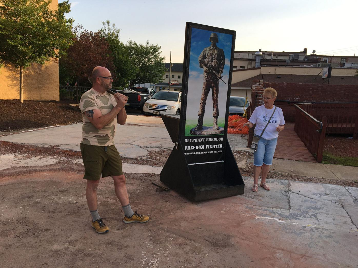 Out&About at the dedication of the new location of the Freedom Fighter statue in Olyphant