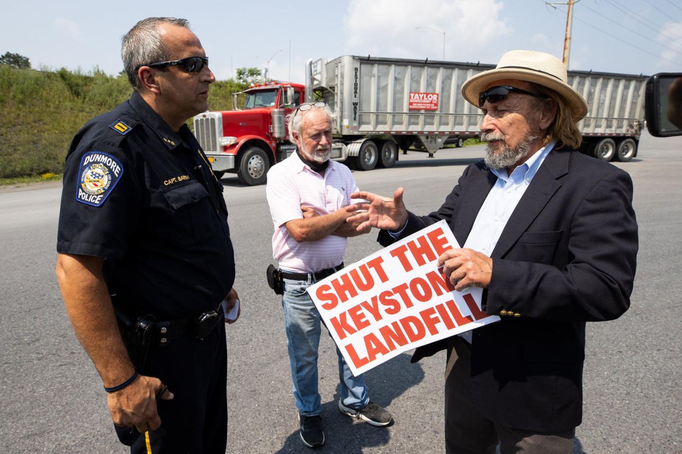Activist Gene Stilp protests at Keystone Sanitary Landfill