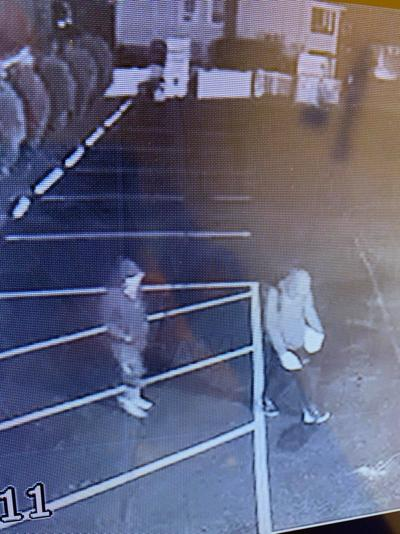 Surveillance camera footage of the juveniles in Throop