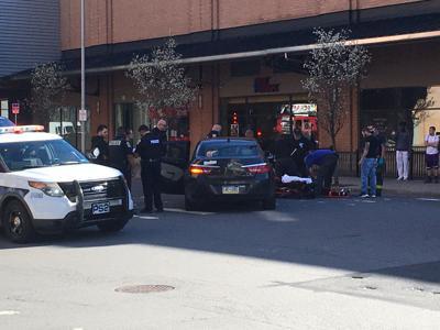 Pedestrian struck by vehicle in downtown Scranton