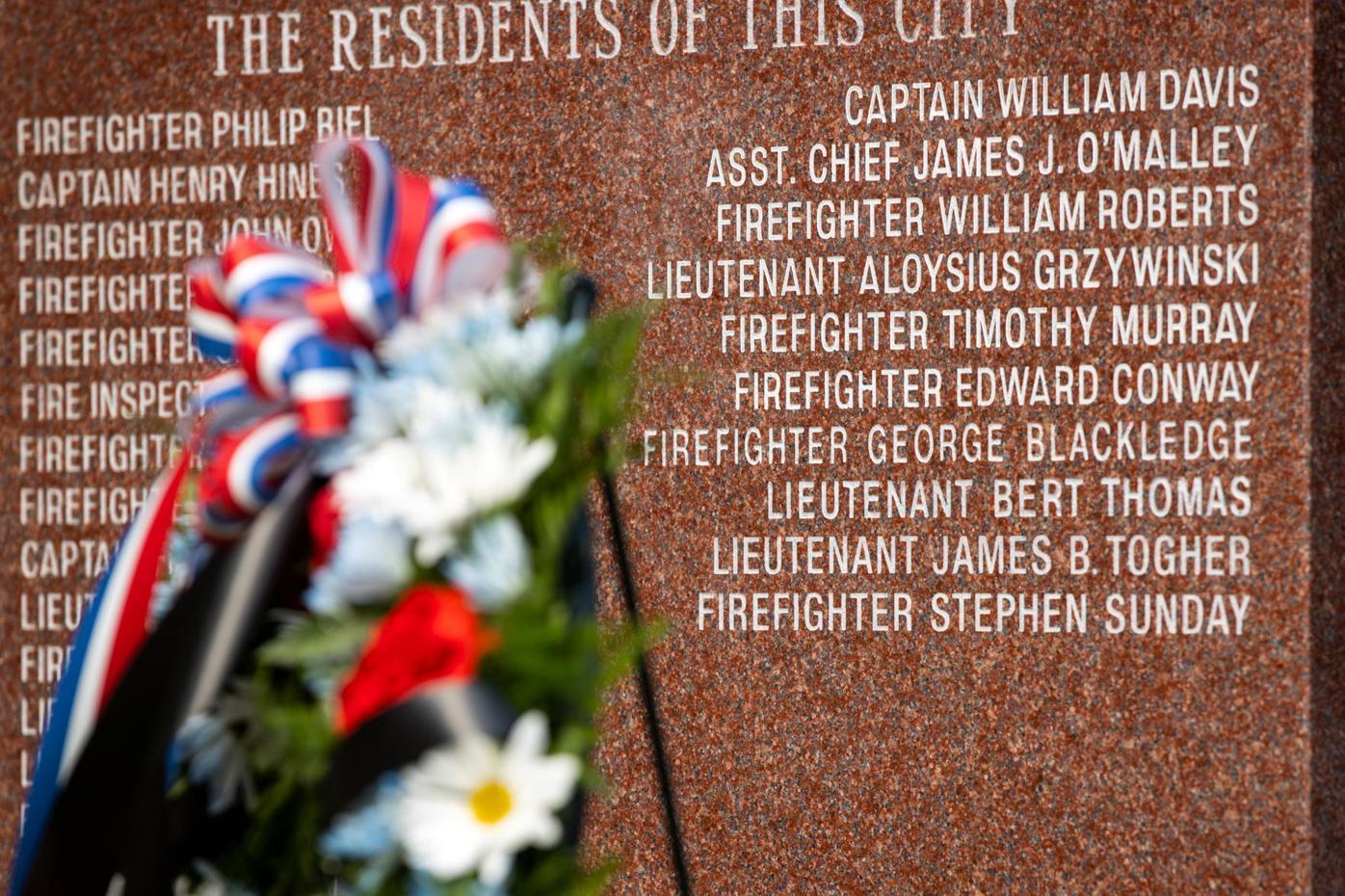 Firefighters added to Scranton memorial