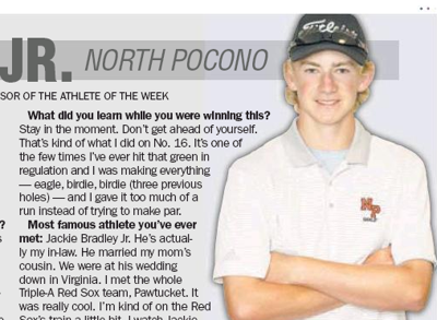 ATHLETE OF THE WEEK: North Pocono's Billy Pabst Jr.