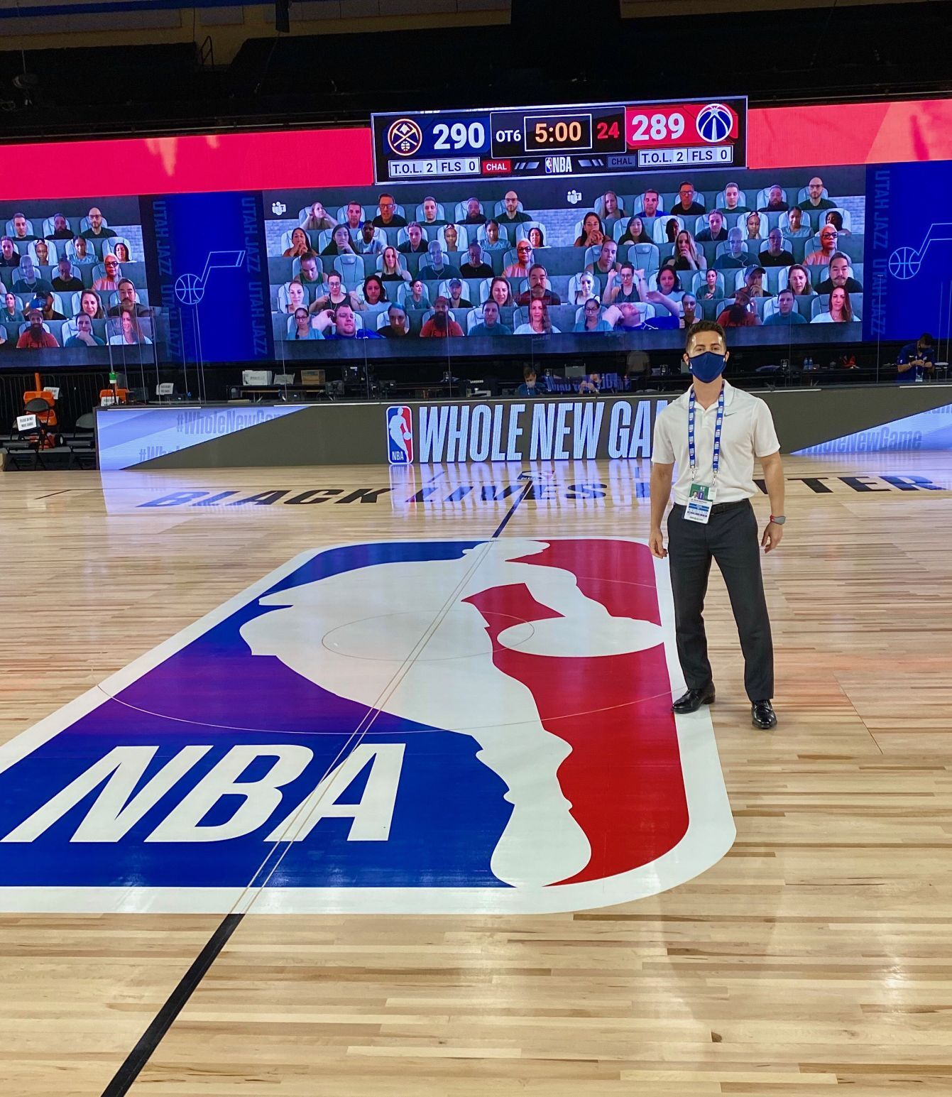 LIFE IN A BUBBLE: Former Bishop Hannan guard Bryan Murtaugh is team doctor for the Washington Wizards