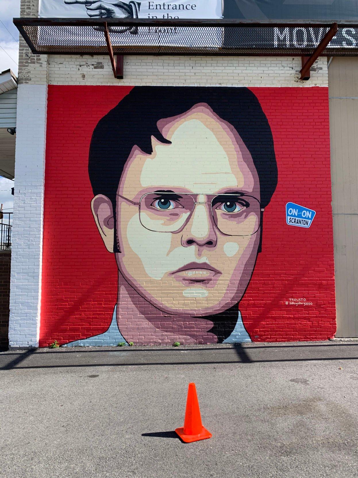 Dwight Schrute mural