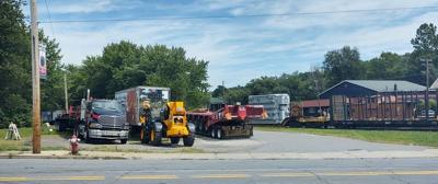 The transformer that will travel through the region Wednesday.