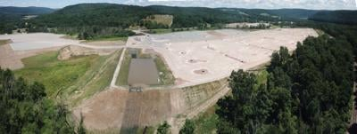 An aerial photo of the site preparation work for the New Fortres